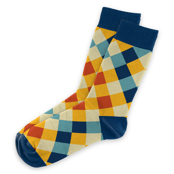 Gold Checker Socks