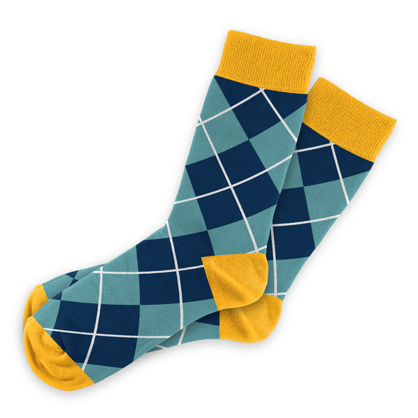 Blue Argyle Socks