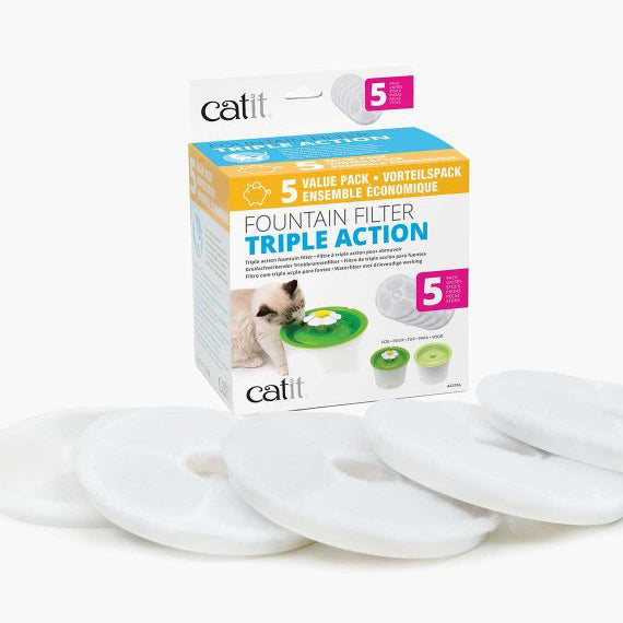Catit Senses 2.0 Triple Action Replacement Filter - 5pk