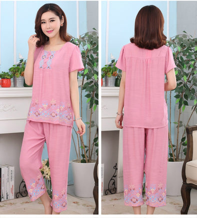 Female Pajamas Set Sleepwear Women