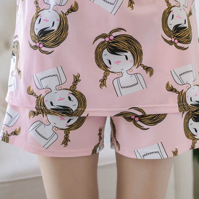 New Thin Women Pajamas Set Summer