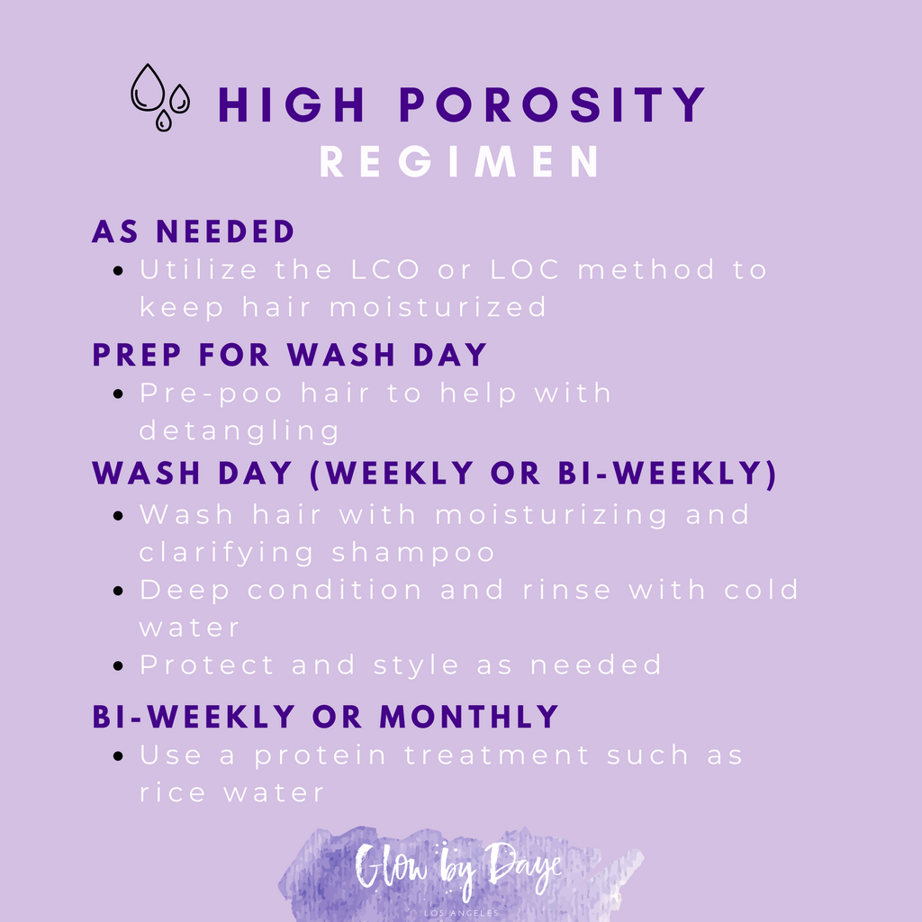Hair Regimen for HIGH POROSITY Hair