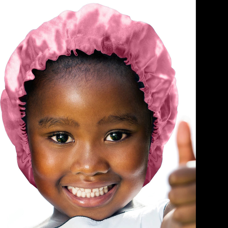 Pinky Promise Kids' Satin Bonnet - glow-by-daye