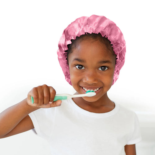 Pretty in Pink Kids Satin Bonnet - Glow by Daye