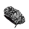 Afro Geo Print Satin Lined Shower Cap