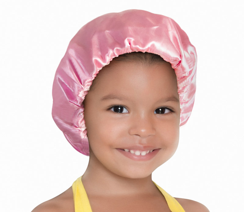 Pretty in Pink Kids' Satin Bonnet