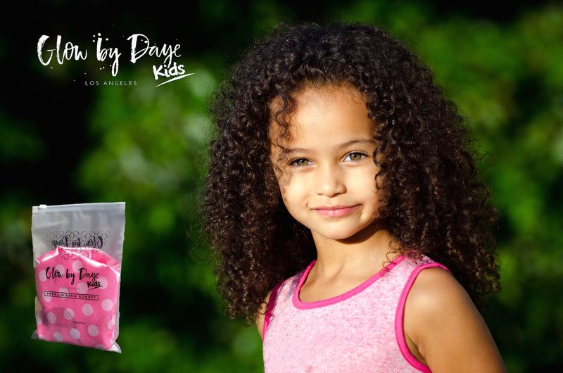 """Pinky Promise"" Kids' Satin Bonnet - Glow by Daye"
