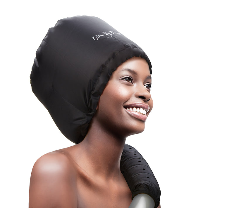 Soft Bonnet Hood Dryer Attachment (Black) - Glow by Daye