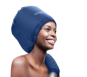 Soft Bonnet Hood Dryer Attachment (Navy) - Glow by Daye