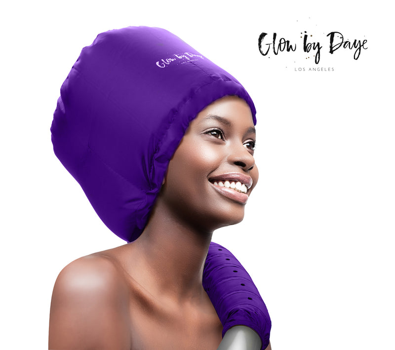Soft Bonnet Hood Dryer Attachment (Purple) - Glow by Daye