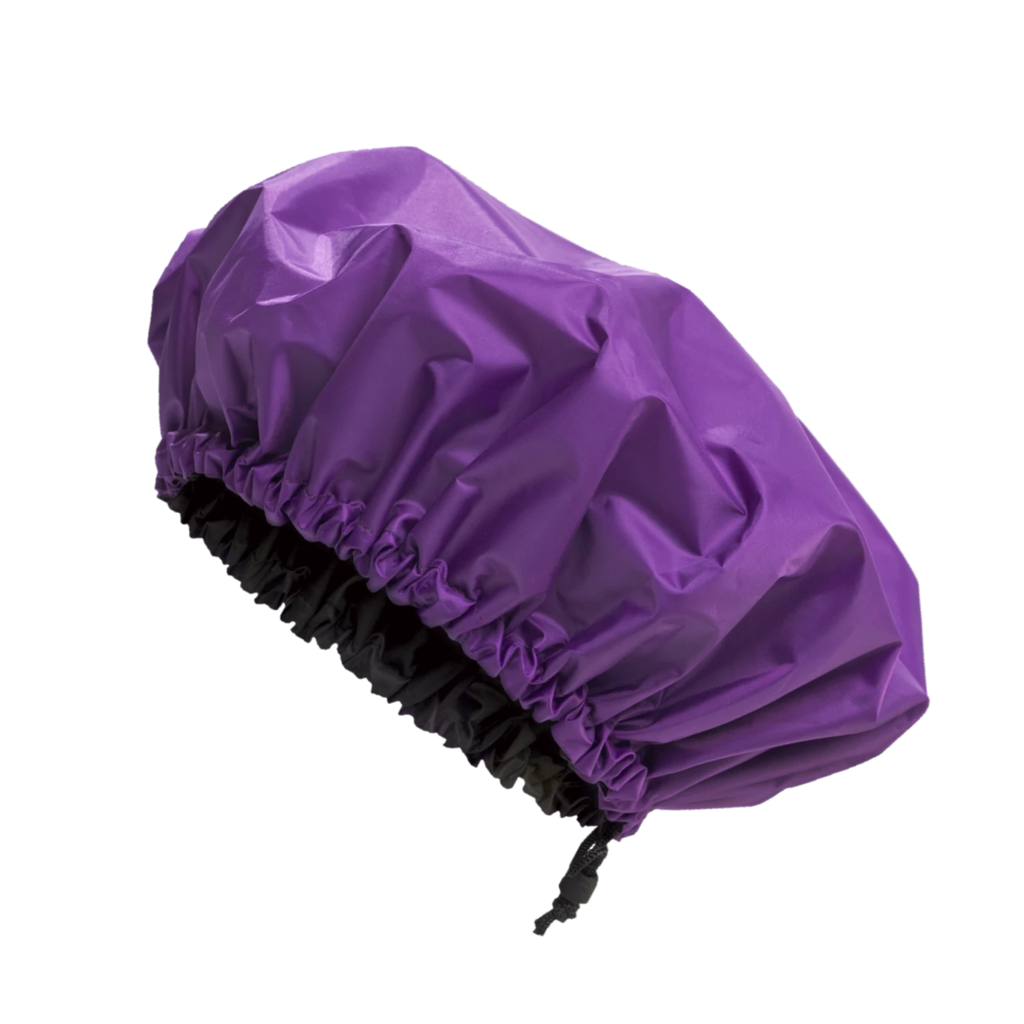 Purple Rain Premium Satin Lined Shower Cap