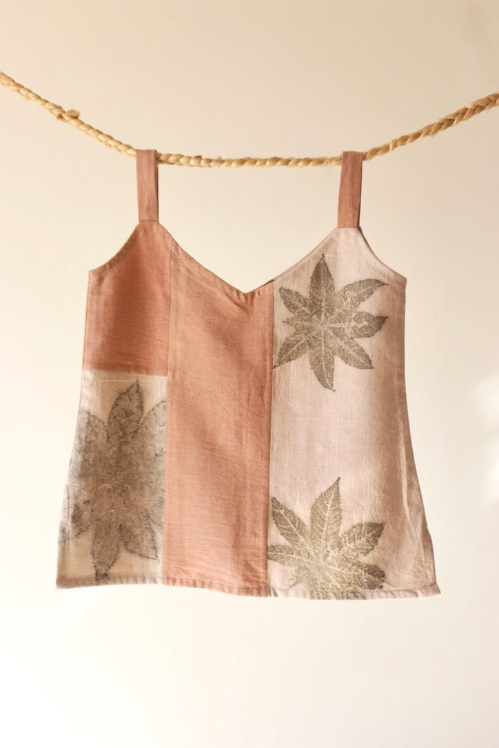 Madder Root & Castor Leaf Zero-Waste Cotton Camisole