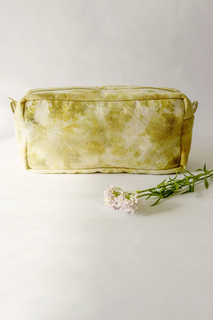 Naturally dyed canvas toiletry box pouch