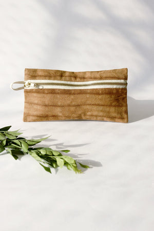 Naturally dyed canvas pencil pouch