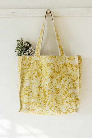 Naturally dyed canvas large tote bag
