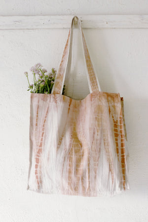 Madder Shibori Large Tote Bag