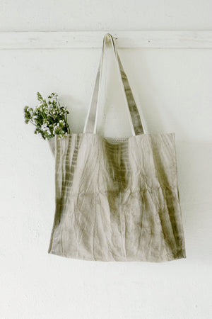Grey Shibori Large Tote Bag