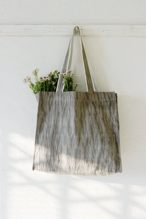 Grey Nui Shibori Large Tote Bag