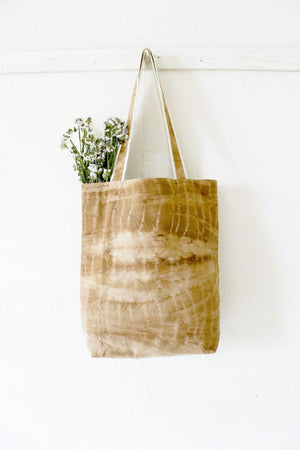 Naturally dyed canvas tote bag