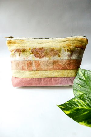 Pink & Yellow Fabric Waste Pouch