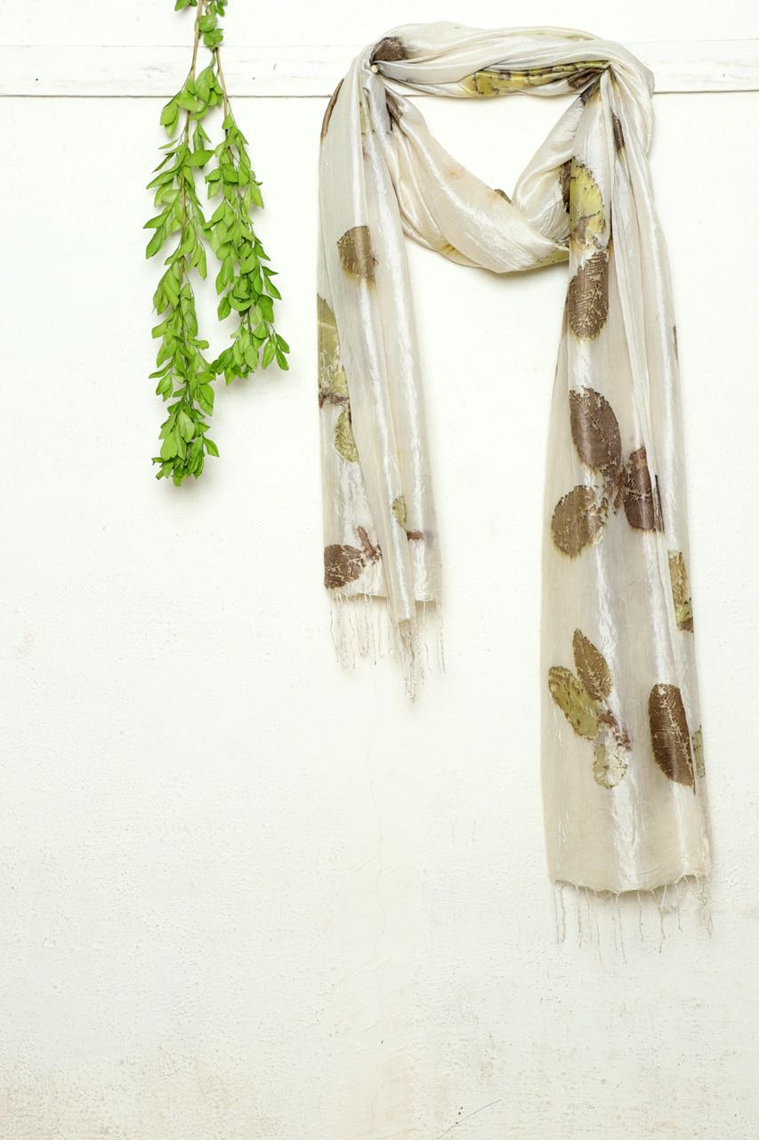 Guava Leaf Scarf - naturally dyed