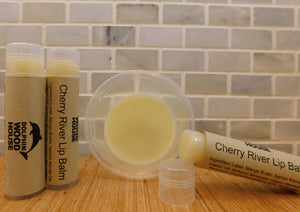 The light breeze of a kiss is what you will feel when you glide our Cherry River Lip Balm onto your lips.  The nurturing butters and oil will make you forget that you had chapped lips in the first place.   Made with Mango Butter and Beeswax (Vegan Alternative) No coloring added Vitamin E Oil and Apricot Kernel Oil