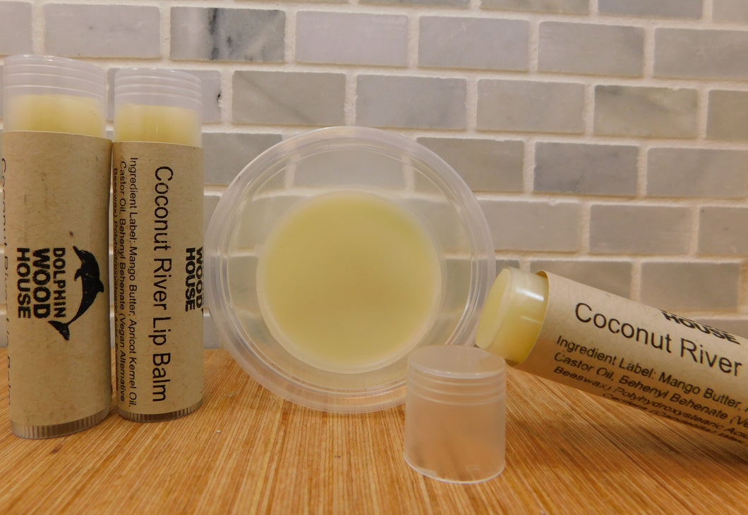 Gliding our Coconut River Lip Balm on your lips while watching your favorite bayside movie will make you feel like you are splashing in the water with a cold fruity drink in hand.  Made with Mango Butter and Beeswax (Vegan Alternative) No coloring added Vitamin E Oil and Apricot Kernel Oil