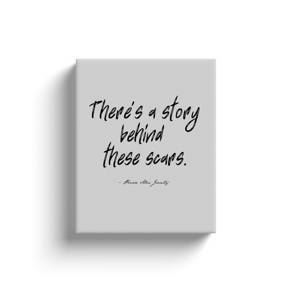 There's a story behind these scars- Pierre Alex Jeanty Canvas Wrapped Wall Art Decor