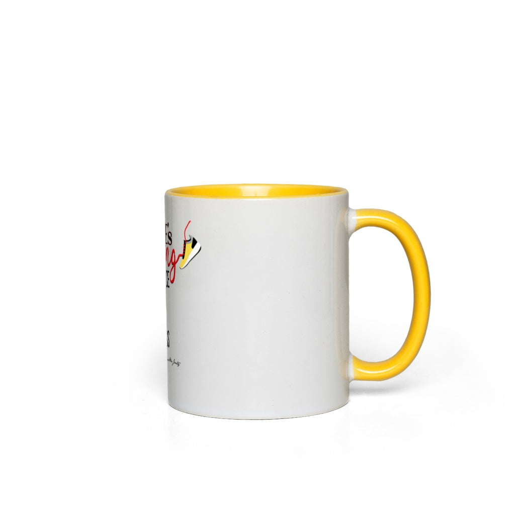 SHE'S CHASING Accent Mug