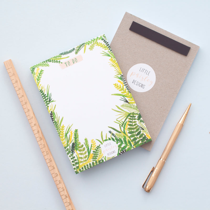 Leafy To Do List Notepad
