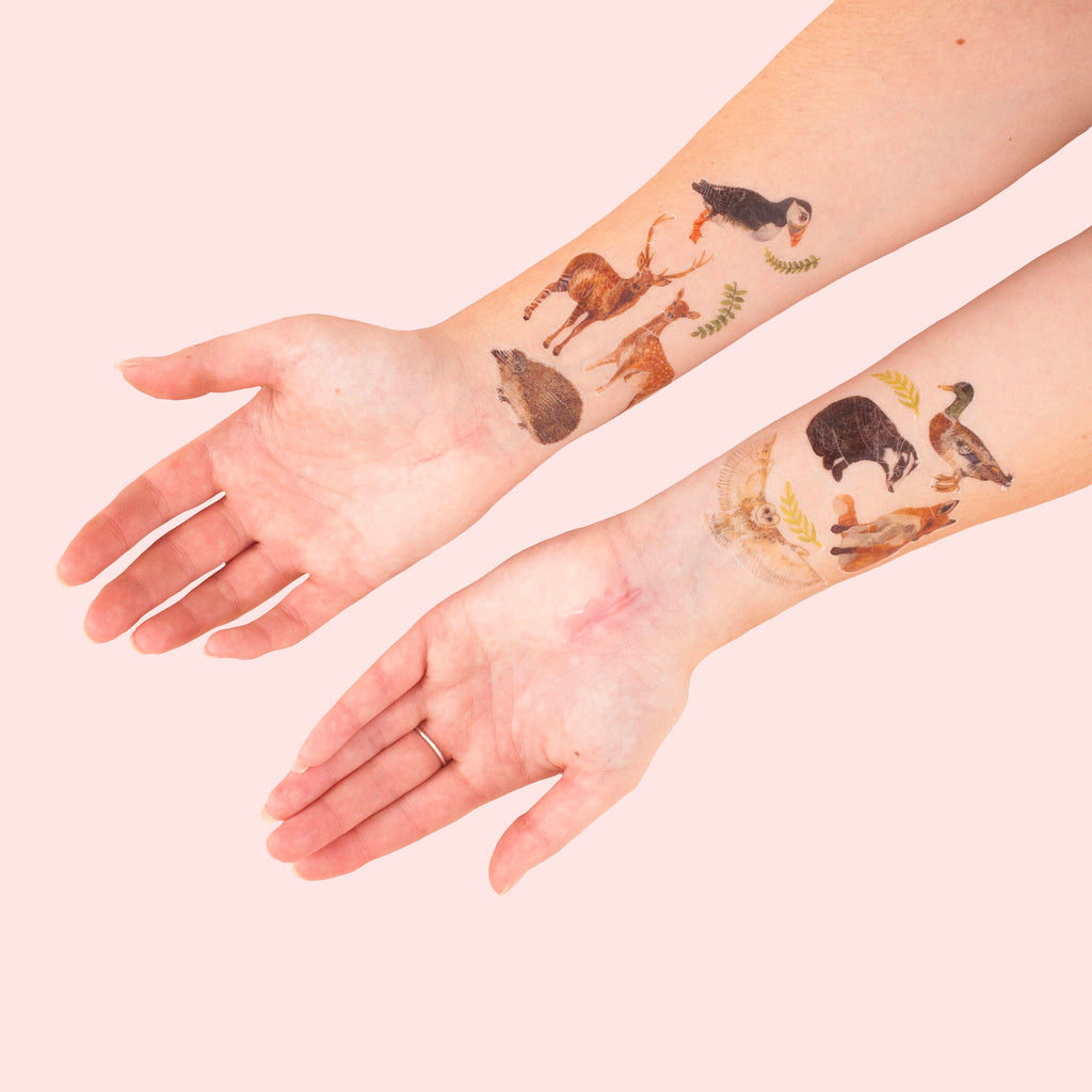 British Nature Temporary Tattoo Pack