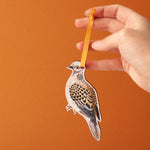 Turtle Dove Lasercut Wooden Christmas Decoration