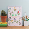 2020 British Wildflowers A4 Wall Calendar