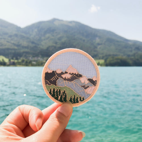 Mountain Embroidered Iron-on Patch