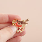 Robin Bird Hard Enamel Pin Badge