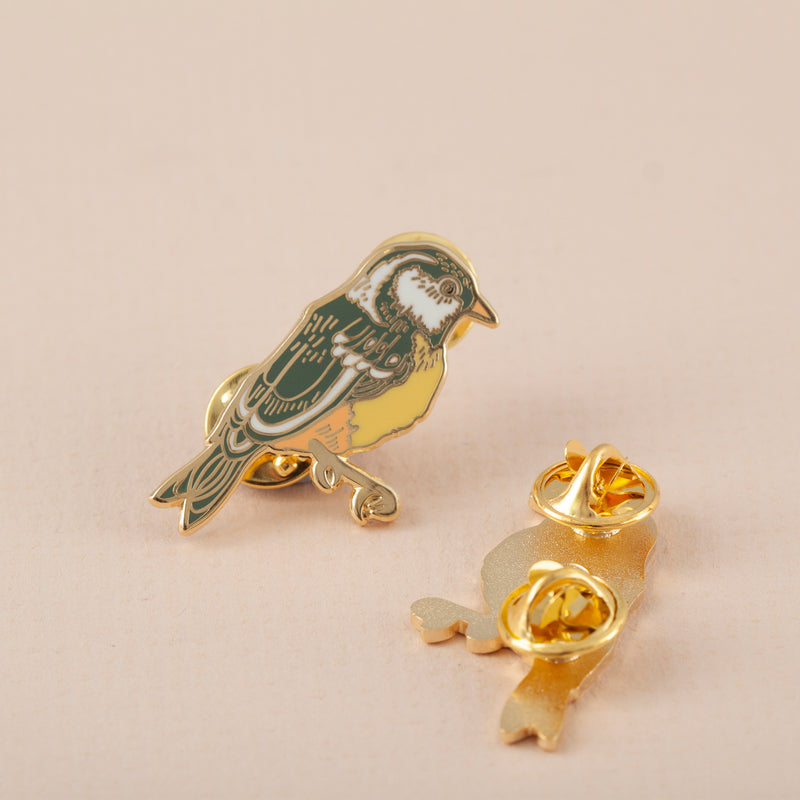 British Garden Bird Hard Enamel Pin Badge