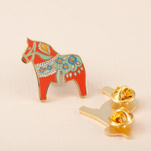 Dala Horse Hard Enamel Pin Badge