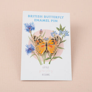 British Butterfly Hard Enamel Pin Badge