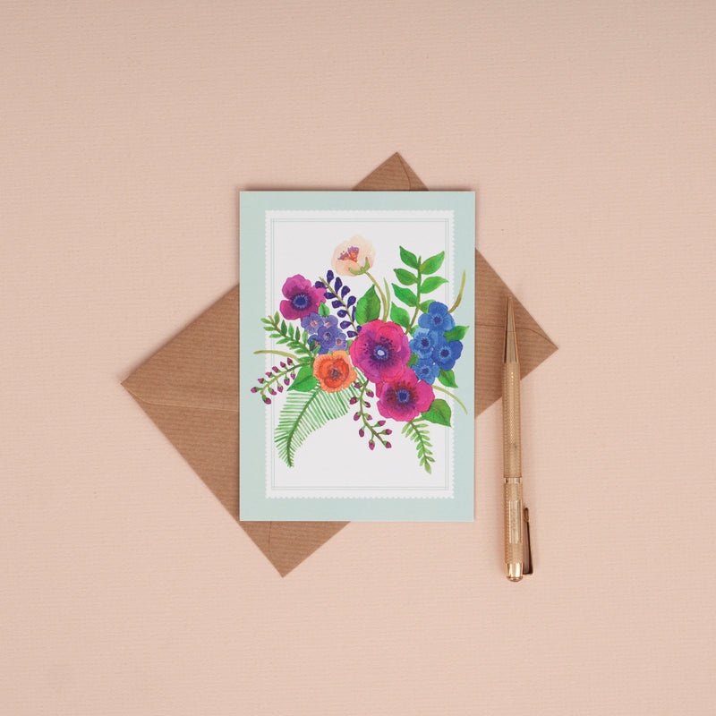 Anemone Bouquet Illustrated Set of 6 Notelets