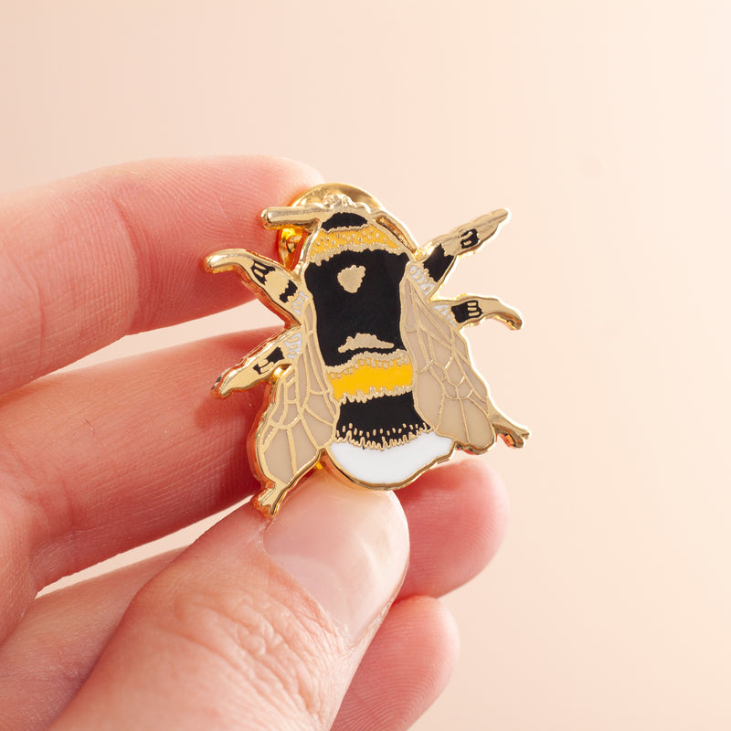 British Bee Hard Enamel Pin Badge