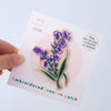 Bluebell Embroidered Iron-on Patch
