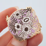 Lilac Flowers Hard Enamel Pin Badge