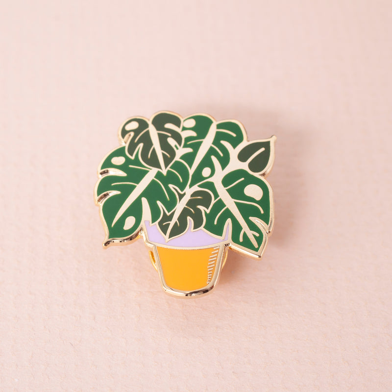 Monstera Hard Enamel Pin Badge