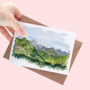 Mountain Scene Greeting Card - A6