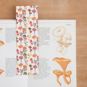 Mushrooms & Houseplants Print Reversible Bookmark