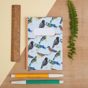 British Garden Birds Print A6 Pocket Notebook