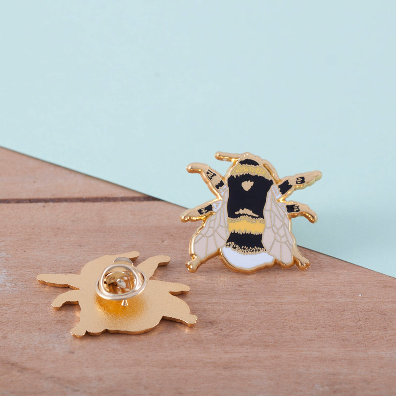 SECONDS SALE - British Bee Hard Enamel Pin Badge