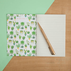 Houseplants Print A6 Pocket Notebook