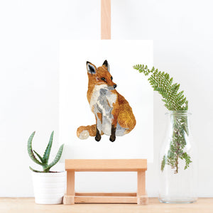 Fox Illustrated Giclée Print - 18 x 24 cm