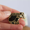 British Badger Enamel Pin Badge